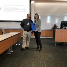 Brad Ziker, Director of DC Operations, Recreational Equipment Inc. with Lauren M. Meyer, Project Manager, The Boeing Company, CAM-I Industry Chair